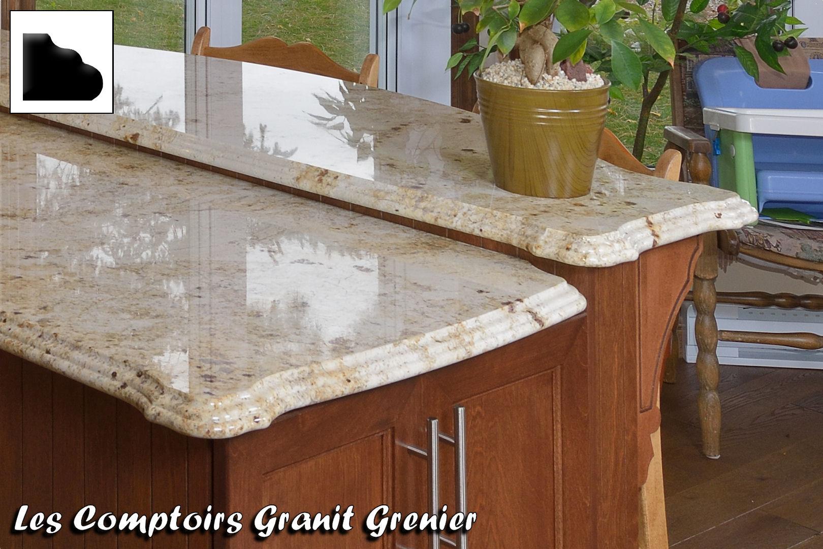 comptoir de cuisine en granit image sur le design maison. Black Bedroom Furniture Sets. Home Design Ideas