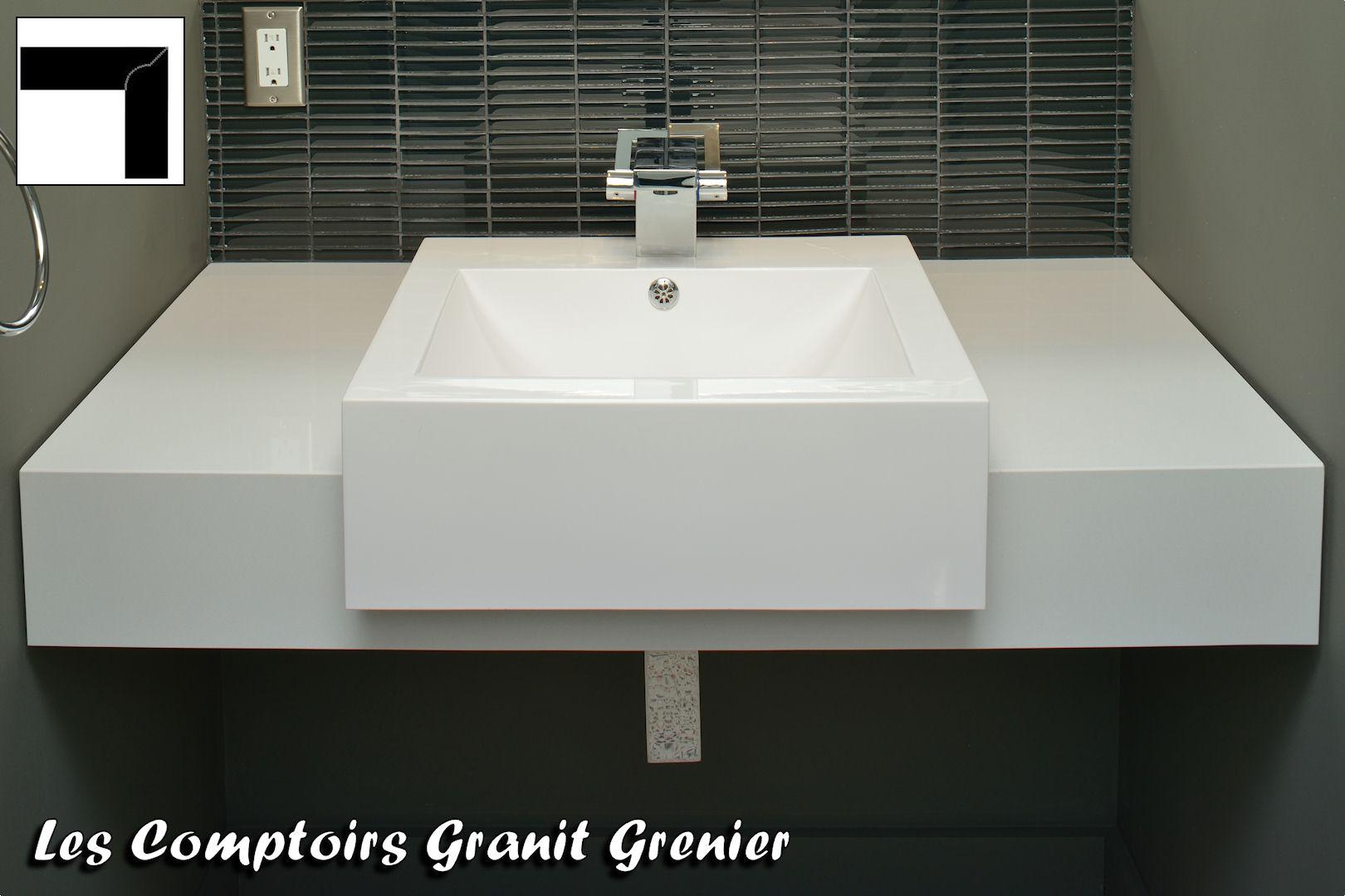 Comptoir de granit et quartz finitions disponibles for Comptoir de salle de bain