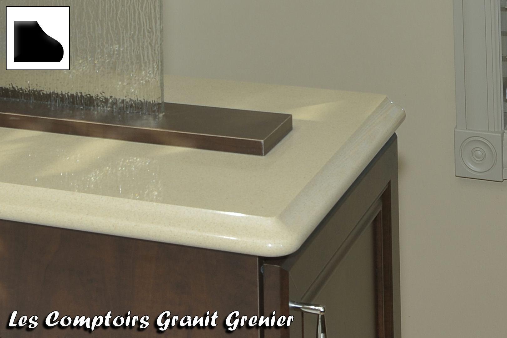Comptoir de granit et quartz finitions disponibles for Dessus comptoir salle de bain