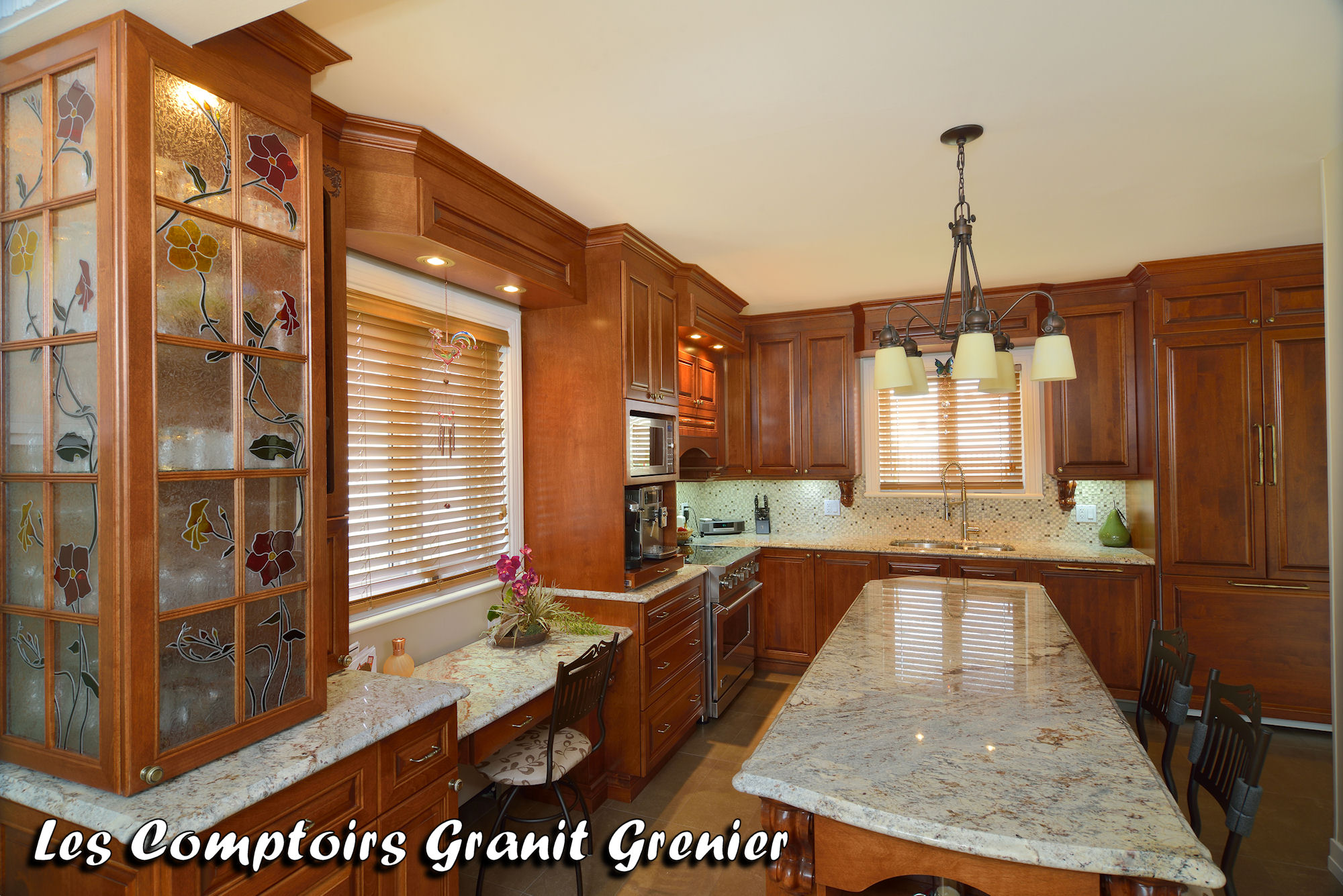 Comptoir de granit et quartz r alisations de cuisines et - Comptoir de cuisine bordeaux ...